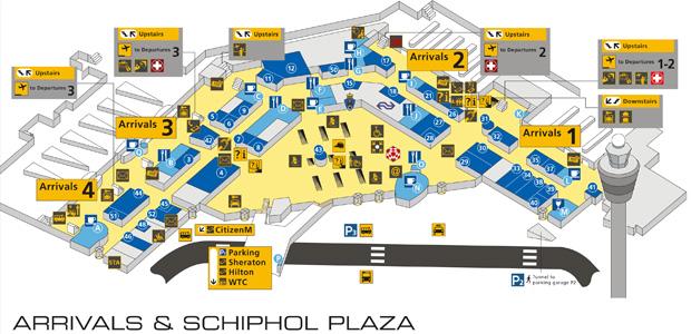 Amsterdam Schiphol Airport Arrivals