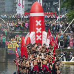 Free things to do in Amsterdam - Gay Pride Canal parade