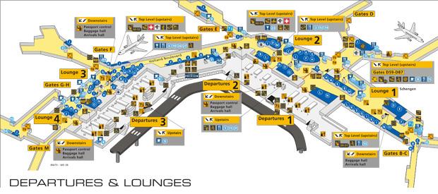 Amsterdam Schiphol Airport Departures AmsterdamTouristinfo